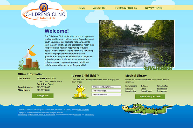 Pediatric Responsive Web Site