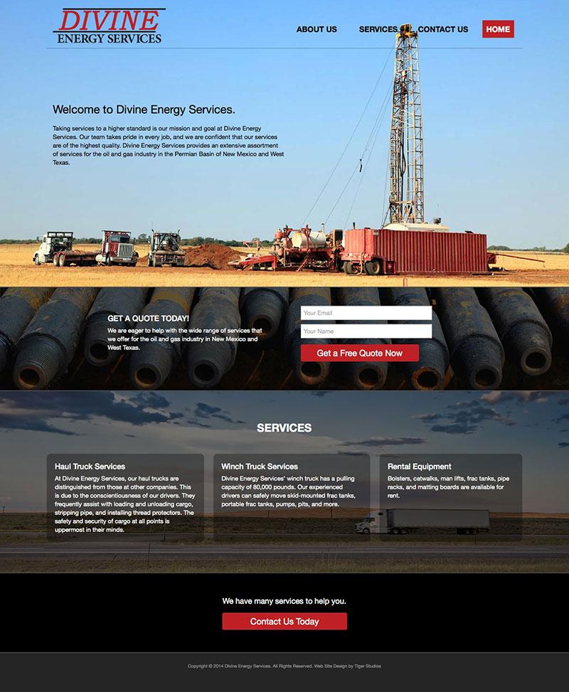 Divine Energy Services Responsive Web Site