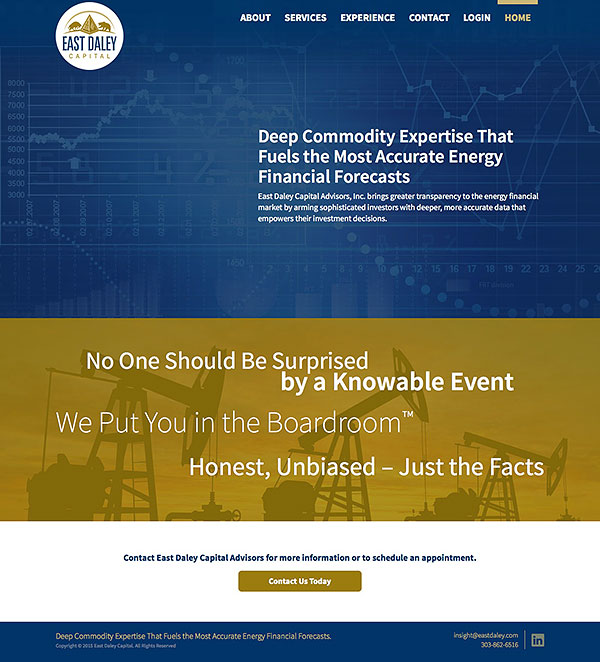 East Daley Capital Responsive Web Site
