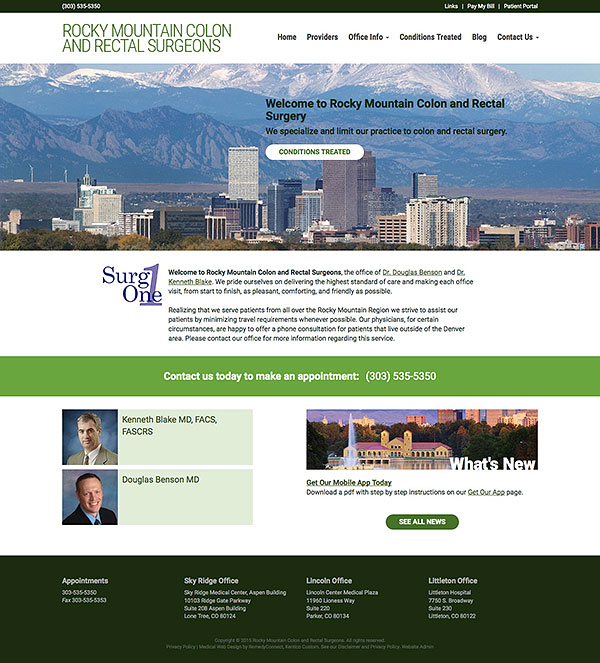 Rocky Mountain Colon & Rectal Surgeons Responsive Web Site