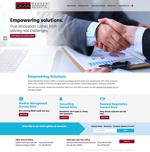 Denver Management Advisors (DMA) Responsive Web Site