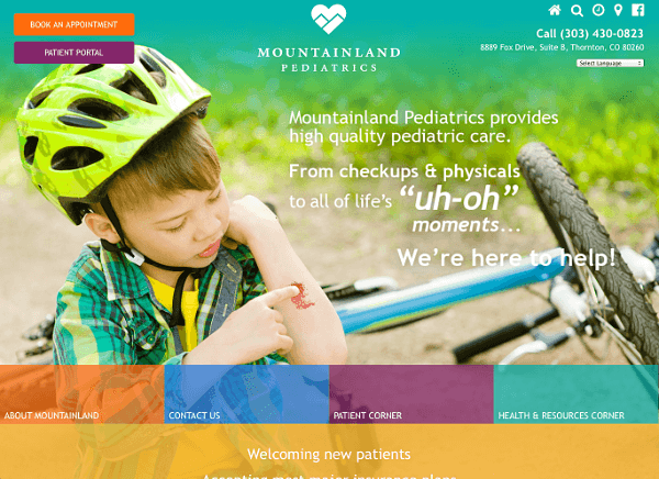 Mountainland Pediatrics Responsive Web Site