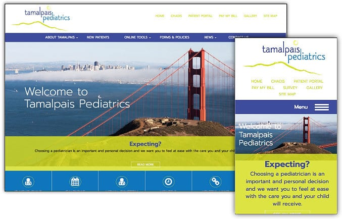 Tamalpais Pediatrics web site design & development