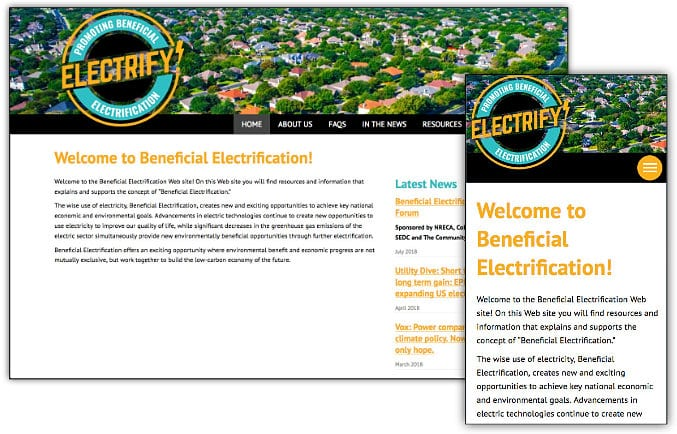 Beneficial Electrafication web site design & development