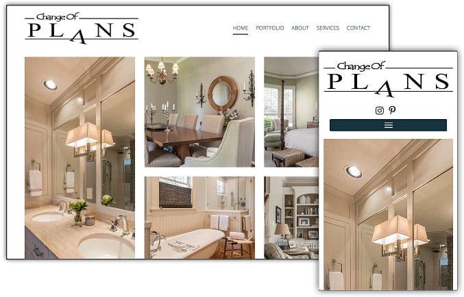 Change of Plans web site design & development