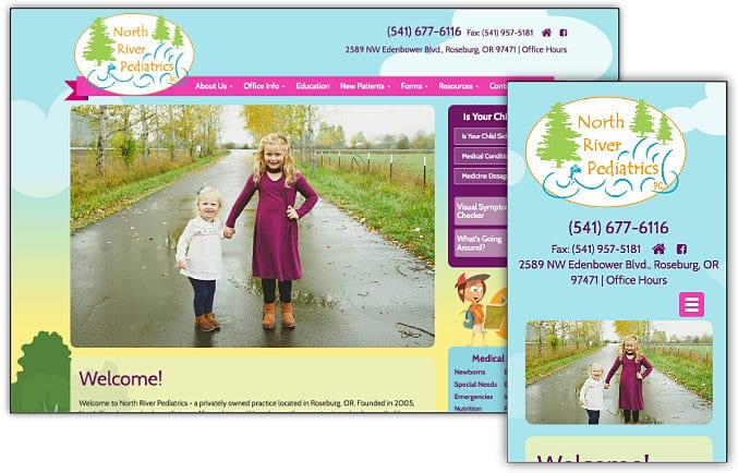 North River Pediatrics web site design & development
