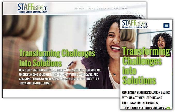 STAFFusion web site design & development