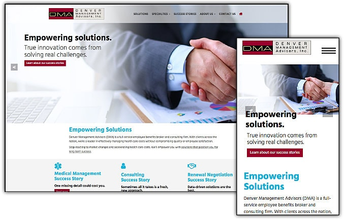 Denver Management Advisors web site design & development