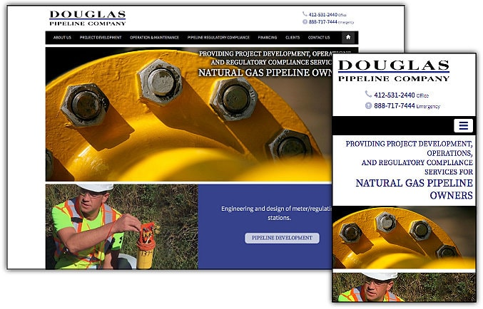 Douglas Pipeline web site design & development