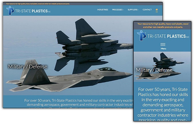 Tri-State Plastics web site design & development