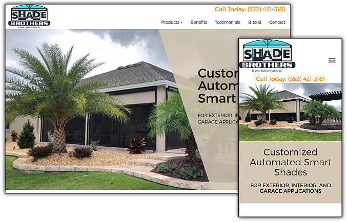 Shade Brothers web site design & development