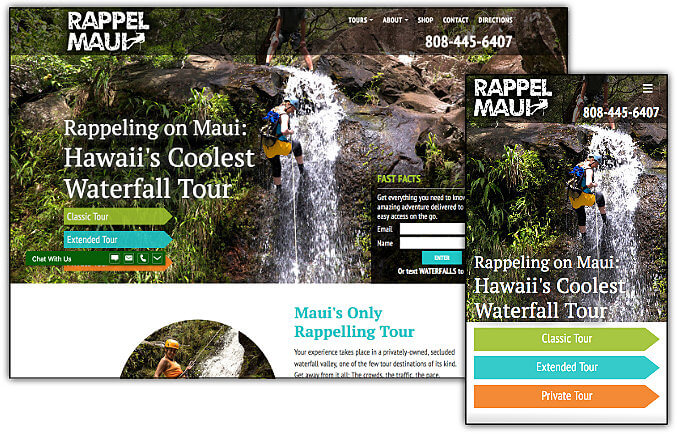 Rappel Maui web site design & development