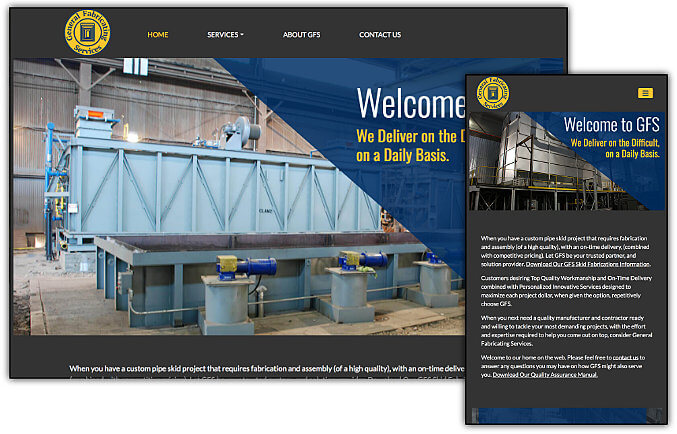 General Fabrication Services web site design & development